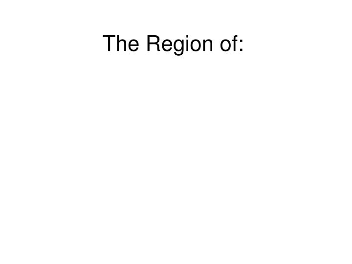the region of n.