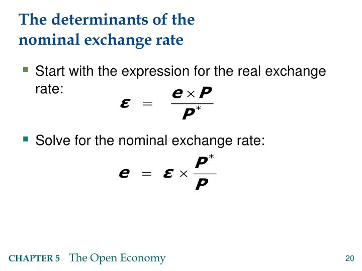 determinants for the exchange rates in long run Cointegration analysis in estimating the long-run determinants of the real  exchange rates for imports and exports, and of the internal real exchange rate.