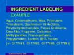 ingredient labeling