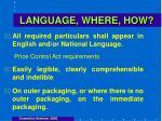 language where how