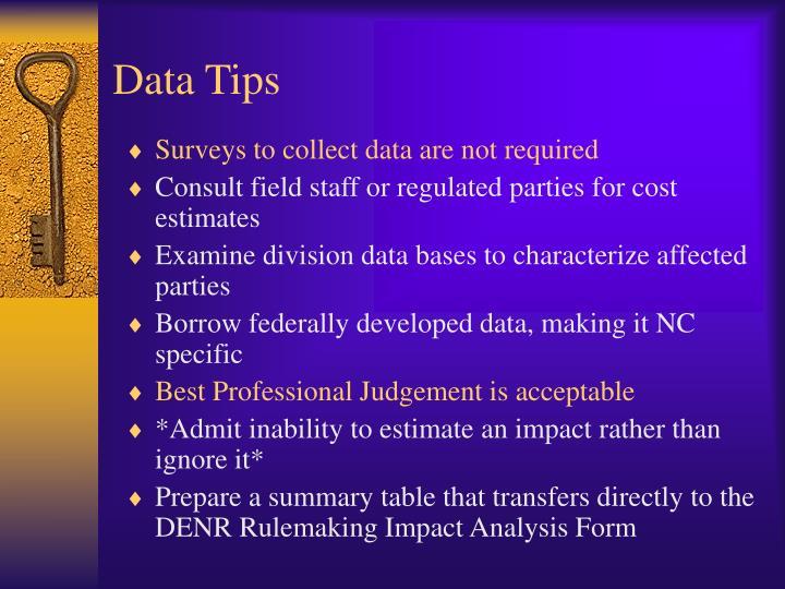 Data Tips