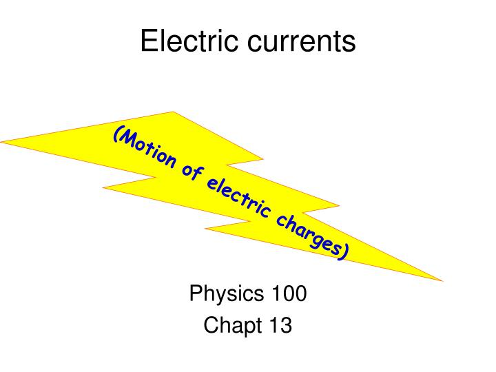electric currents n.
