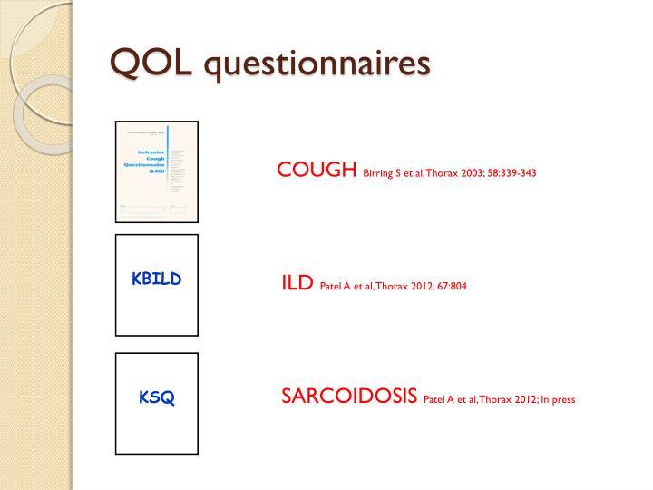 QOL questionnaires