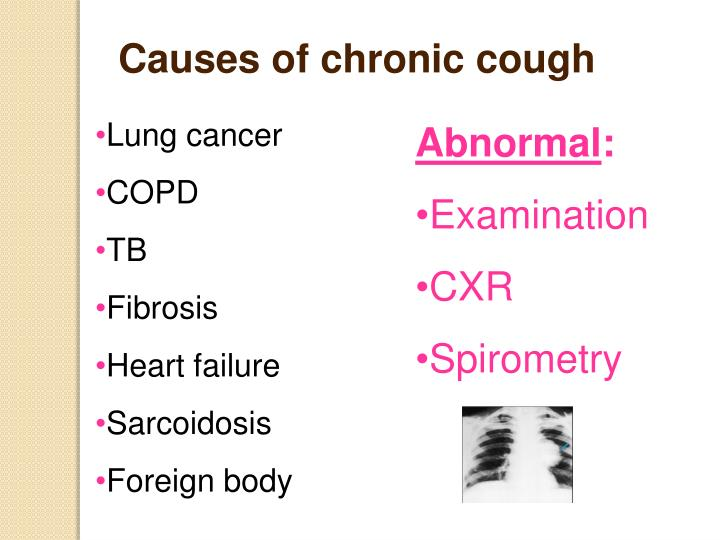 Causes of chronic cough