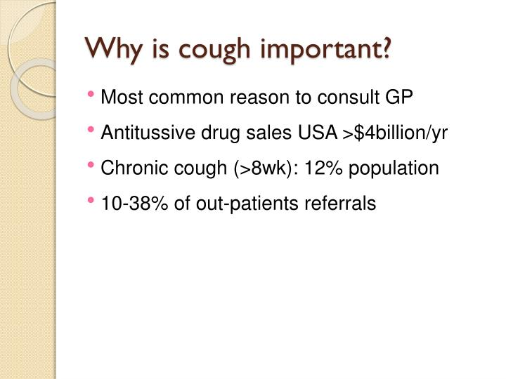 Why is cough important