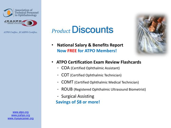 Ppt Benefits Of Atpo Membership Value Of Jcahpo Certification