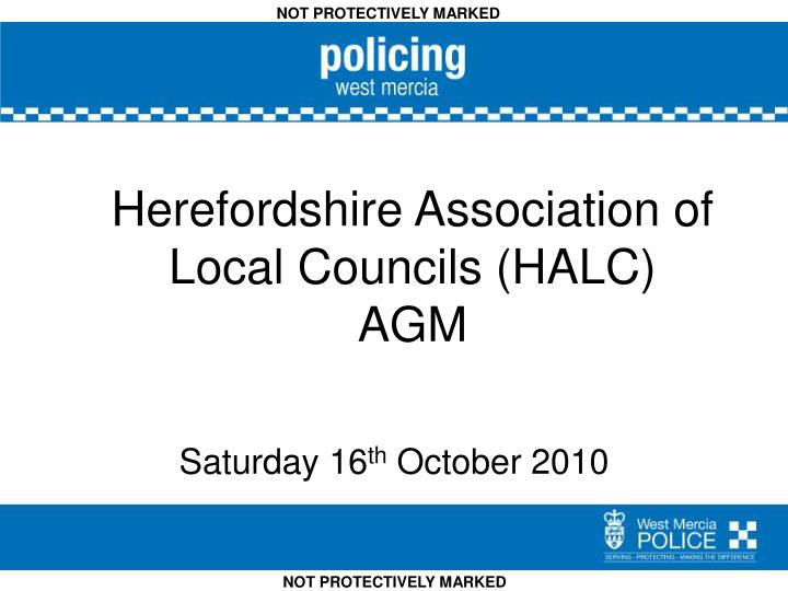 ppt - herefordshire association of local councils (halc) agm, Agm Presentation Template, Presentation templates