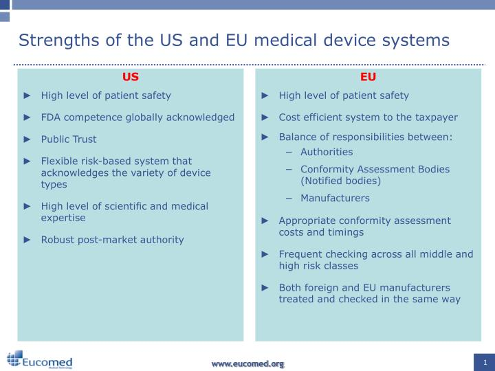 strengths of the us and eu medical device systems n.
