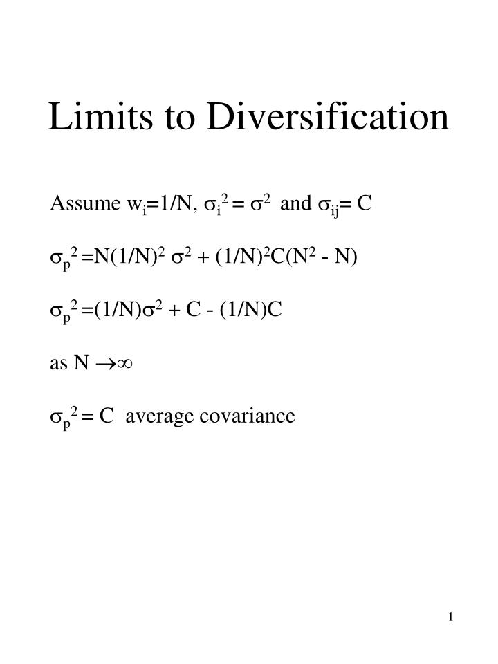 limits to diversification n.