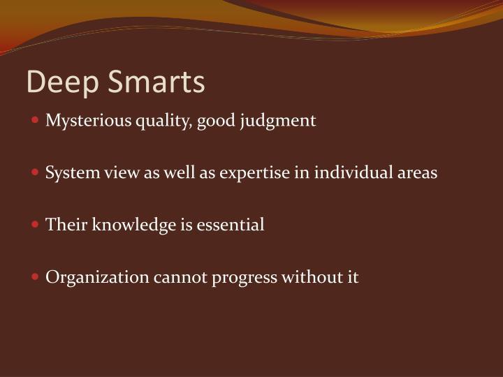 Deep smarts1