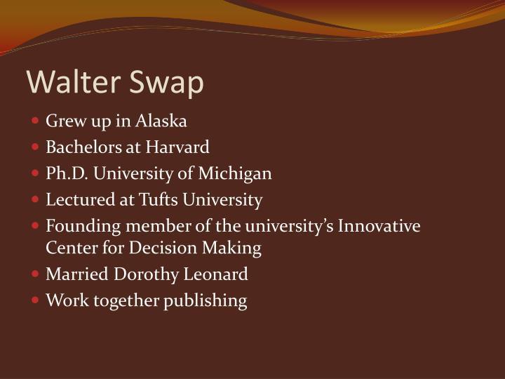 Walter Swap