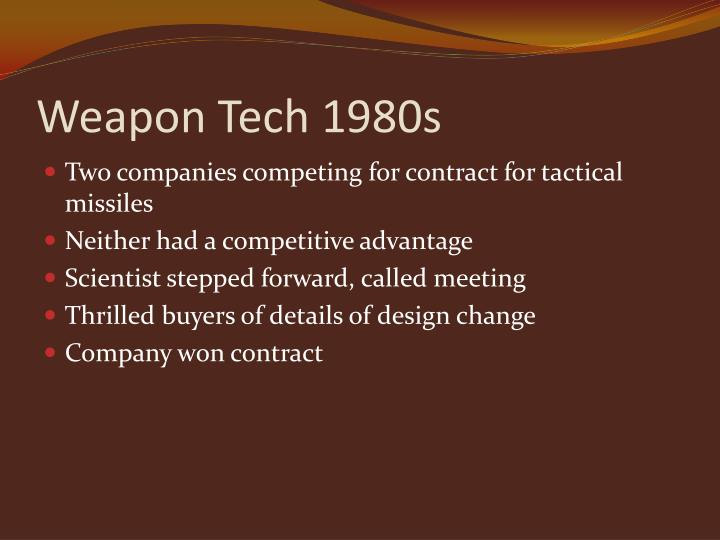 Weapon Tech 1980s