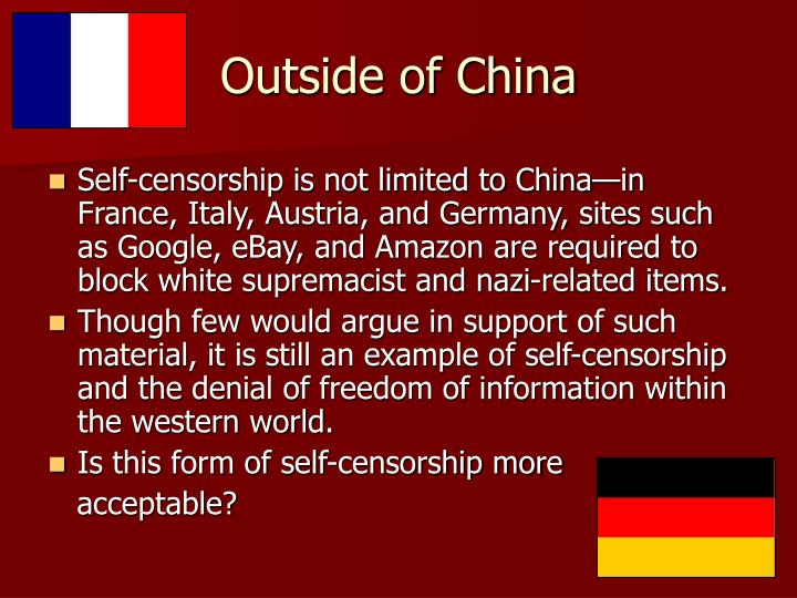 Outside of China