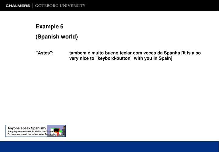 Anyone speak Spanish?