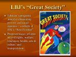 lbj s great society
