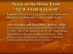 nixon on the home front new federalism