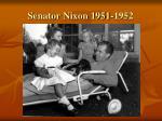 senator nixon 1951 1952