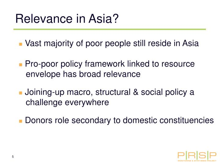 Relevance in Asia?