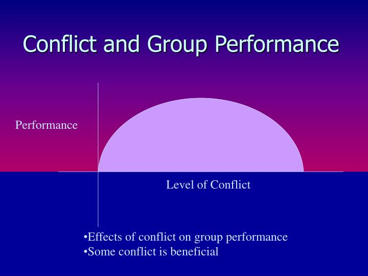 Conflict and Group Performance