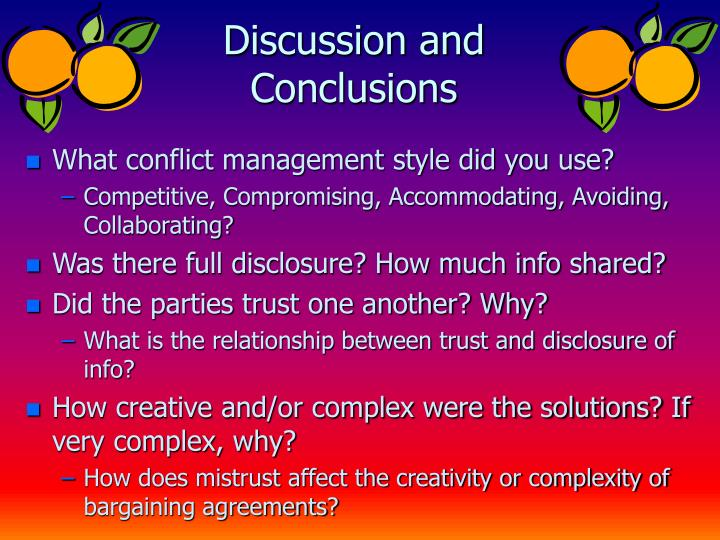 Discussion and