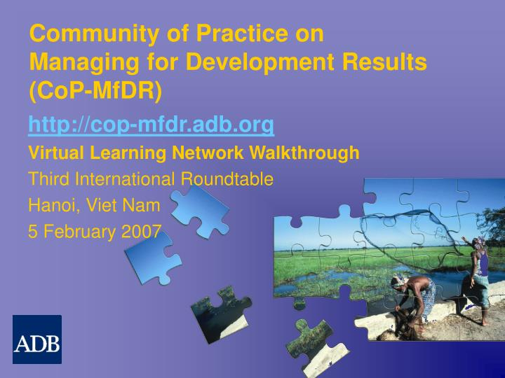community of practice on managing for development results cop mfdr n.