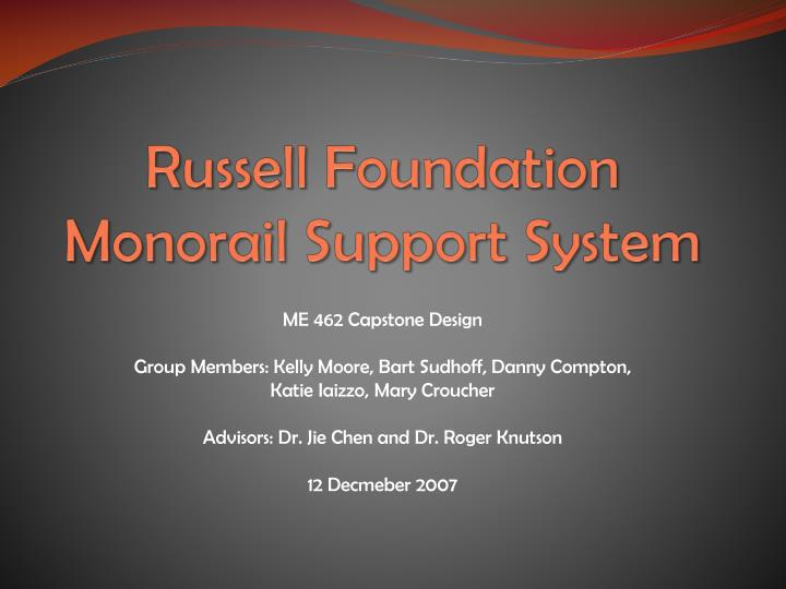 russell foundation monorail support system n.