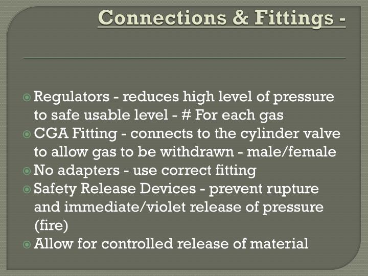 Connections & Fittings -