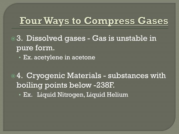 Four Ways to Compress Gases