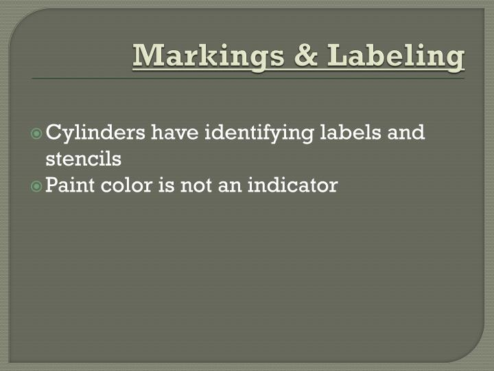 Markings & Labeling