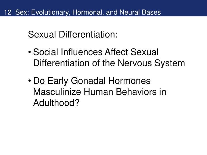 12 Sex: Evolutionary, Hormonal, and Neural Bases