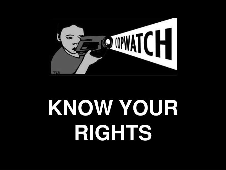 know your rights n.