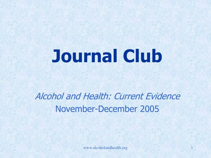 journal club n.