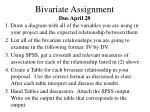 bivariate assignment due april 28