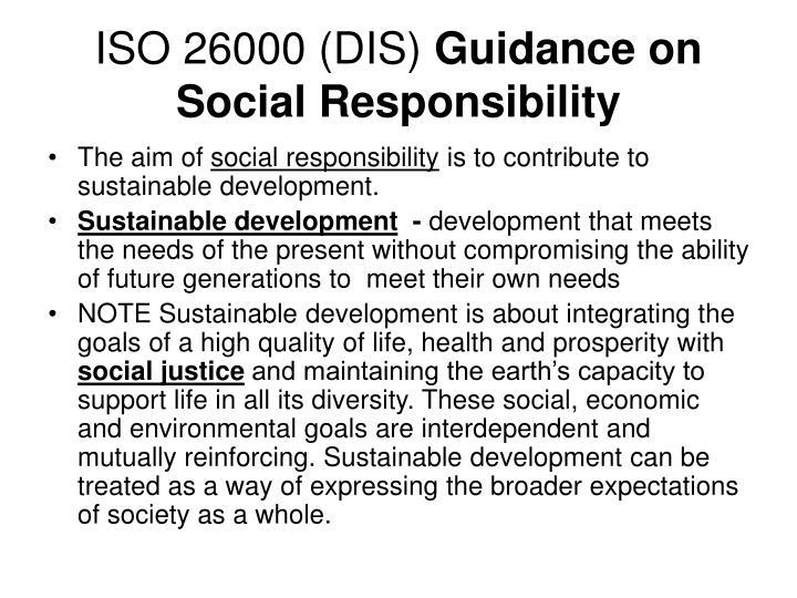 ISO 26000 (DIS)