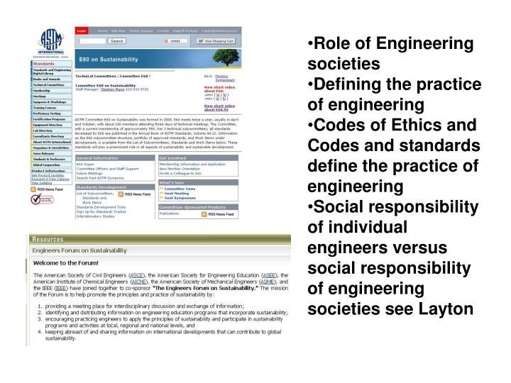 Role of Engineering societies