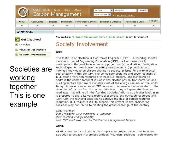 Societies are