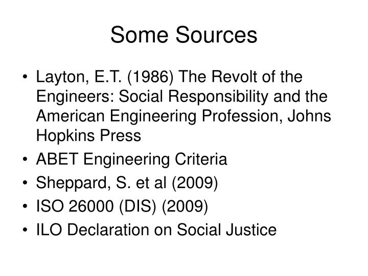 Some Sources