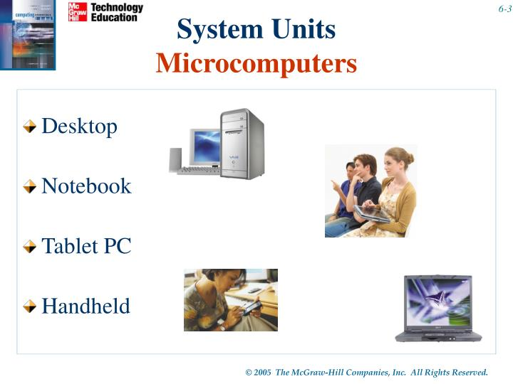 System units microcomputers
