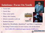 solutions focus on youth
