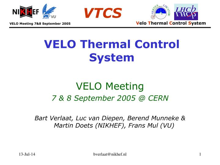 velo thermal control system n.
