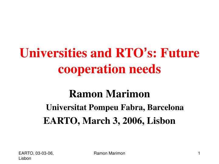 universities and rto s future cooperation needs n.