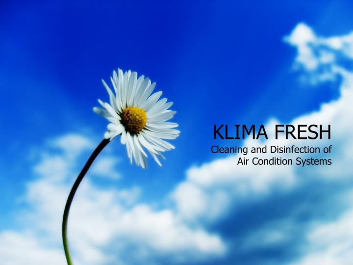 klima fresh cleaning and disinfection of air condition systems n.