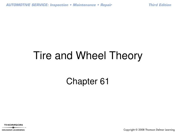 tire and wheel theory n.