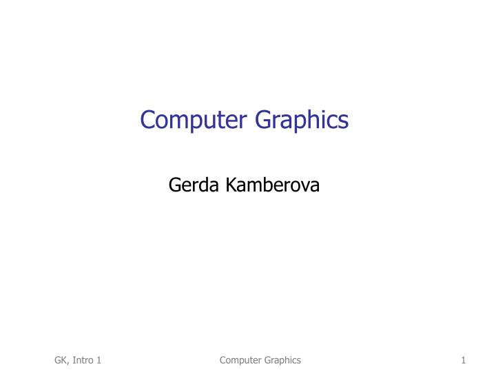 computer graphics n.