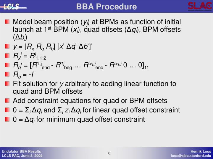 BBA Procedure