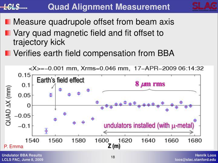 Quad Alignment Measurement