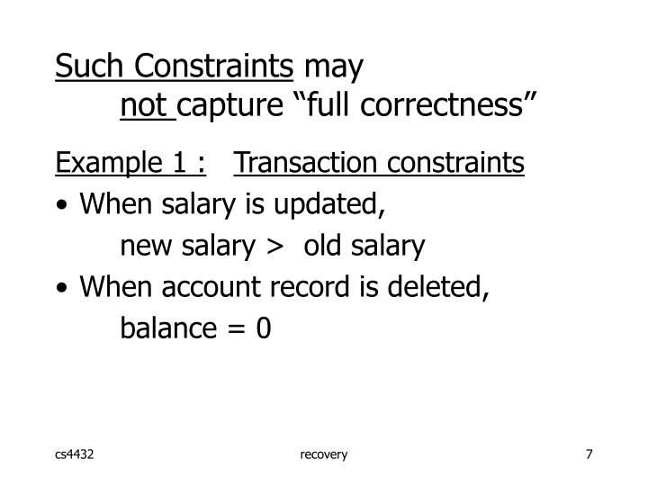 Such Constraints