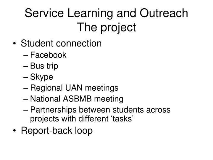 Service Learning and Outreach