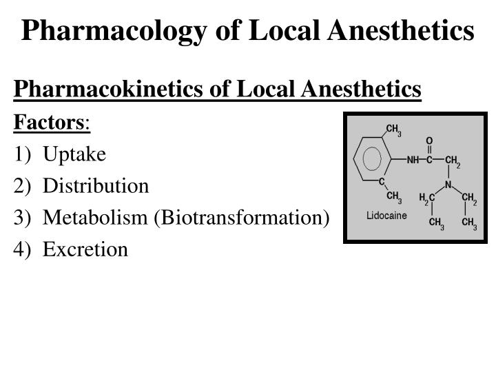 pharmacology of local anesthetics n.