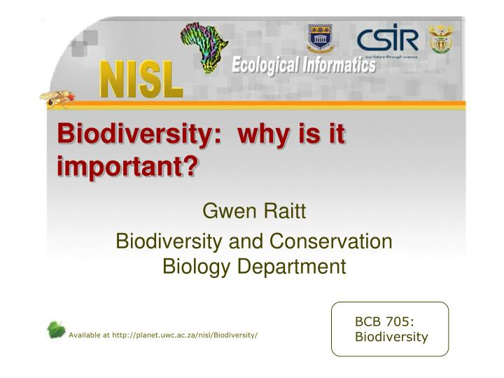 biodiversity why is it important n.